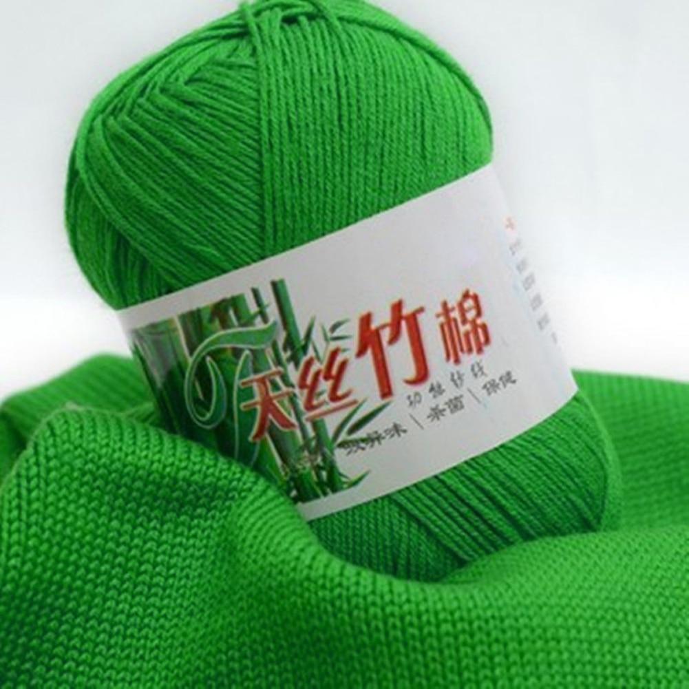400g=8balls Natural Soft Bamboo and Cotton yarn for Knitting 100% Natrual Environmental Protection Weave Knit Gloves Sweater DIY