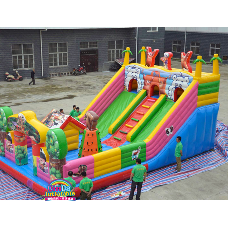 10*6M Inflatable Bounce House Inflatable Combo Slide Bouncy Castle Jumper Inflatable Bouncer for sale yard double inflatable slide inflatable toys bounce house cama elastic trampolines for kids bouncy castle