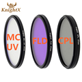 KnightX 52 55 58 67 77 мм FLD УФ CPL MC MCUV Фильтр для Sony Pentax Nikon Canon D5200 D5300 D3300 D5500 100D EOS 400D 550D 500D