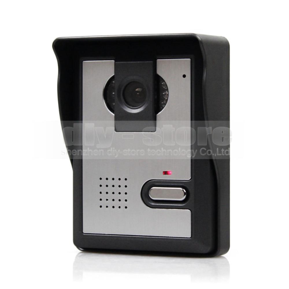 DIYKIT 7inch Video Intercom Video Door Phone Doorbell 1 Camera 1 Monitor for Home / Office Security System Black