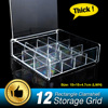 Vanity Clear Acrylic Storage 12 Grids Cosmetic Organizer With Cover Makeup Lipstick Holder Jewelry Case Tray