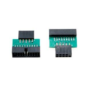 Image 3 - YuXi Adaptador USB 3,0 de 19 pines y 20 pines hembra a USB 2,0, macho de 9 pines, USB 3,0 de 19/20 pines a USB 2,0, de 9 pines Adaptador convertidor, Frente del chasis