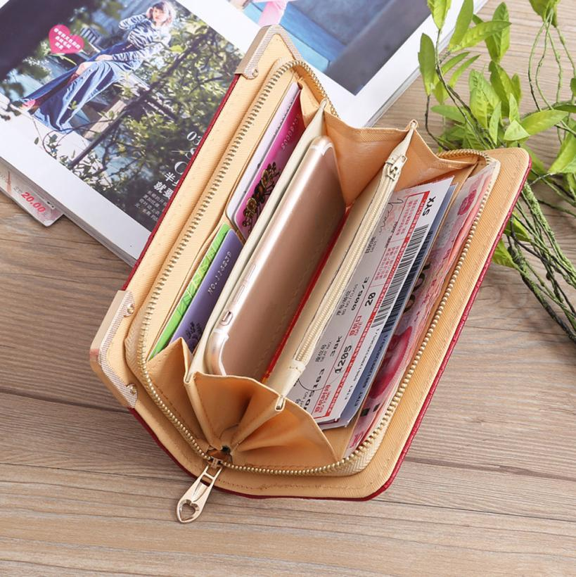Fashion Women Oxford Embroidery Road Wallet Coin Bag Purse Phone Bag Lady Long Purse Wholesale Drop Shipping #Y 6