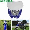 12V 35W Supermoto Enduro Scheinwerfer Für Yamaha Scheinwerfer Maske WR YZ TTR 110/125/250/ 250F/250R/250X/450F/426F Motocross Kopf Licht auf