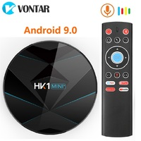 Smart TV Box Android 9.0 4GB RAM 64GB Rockchip RK3318 Support 1080p 4K 60fps Google Play Store Netflix Youtube HK1 mini IPTV BOX