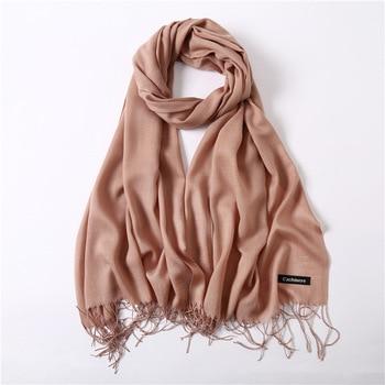 women scarf fashion summer thin solid shawls and wraps lady pashmina bandana female hijab winter long foulard head scarves