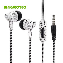 BINGSENTEC Fabric Wire Headset In-Ear Earphone Super Bass Stereo Headphone With MIC For iPhone 4 5 6 6s 7 6plus Samsung MP3 PC
