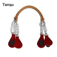 TANQU 1 Pair Long Rope Handle with Drop End Metal Chain for O Bag Accessories for EVA Obag Women's Bags