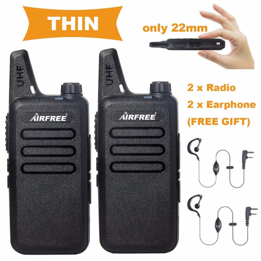 2PCs AP 100 Slim size Two Way Radio long range UHF 400 470MHz professional handheld FM