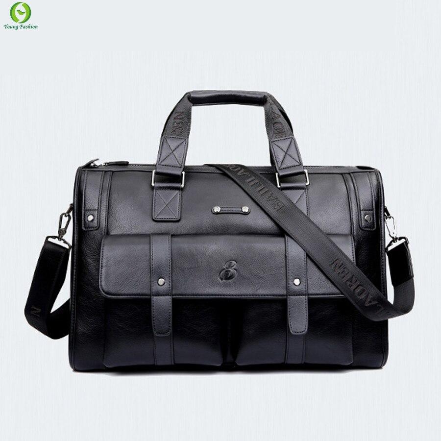 New brand men travel bags leather men font b handbag b font England Style business men