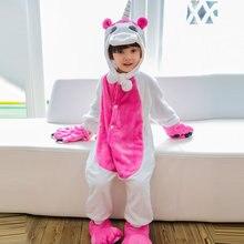2018 Unicorn Onesie Kids Pokemon Winter Kigurumi Pajamas for Girls Children Anime Hoodie Panda Boys Pyjama Sleepwear Jumpsuit