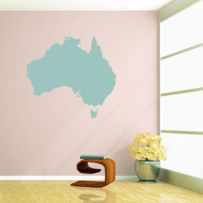Australia map globe earth country wall vinyl sticker custom made home decoration fashion design in wall stickers from home garden on aliexpress com