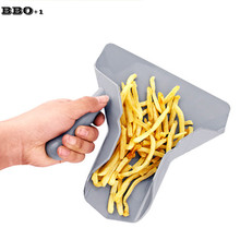 New 1pc Steel Fries Shovel Popcorn Shovel Nut Beans Food Server Shovel Plastic Food Shovel Kitchen Tool