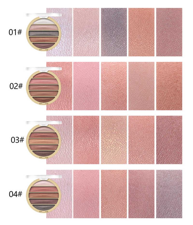 MISS ROSE nowy 4 kolor cieni do powiek złota perełka matowy cień do powiek danie naturalny makijaż nago kolor ziemi przenośny cień do oczu taca TSLM2