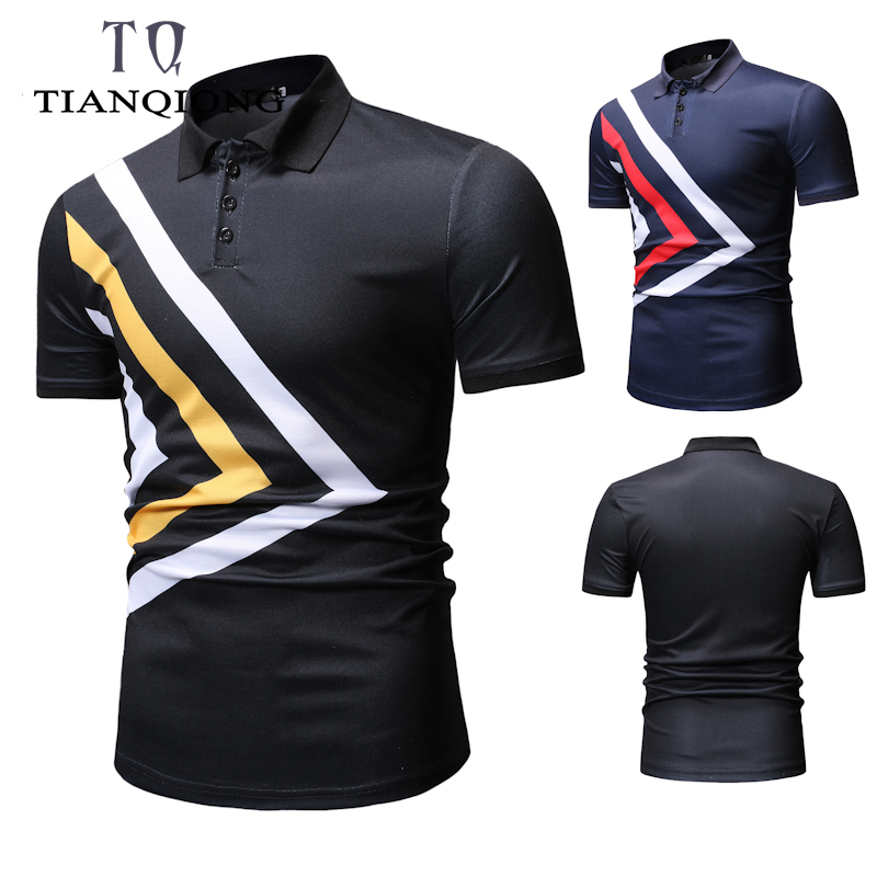 TIAN QIONG Brand Clothing New Men   Polo   Shirt Men Business & Casual Solid Male   Polo   Shirt Short Sleeve Breathable   Polo   Shirt