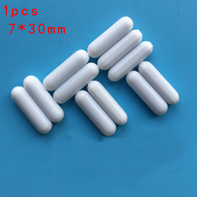 1 pcs Magnetic Stirrer Mixer Stir Bar PTFE Lab Spin Spinner Cylinder 7*30mm All sizes free shipping 5 10 mm ptfe magnetic stirrer mixer stir bar with pivot ring white color