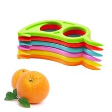 1 шт. Кухонные гаджеты Lemons оранжевый цитрусовый нож для пилинга для удаления слайсера резак для быстрого зачистки кухонного инструмента