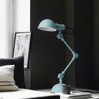 بسيطة الجدول مصباح الشمال غرفة الدراسة led مصباح الطاولة غرفة نوم أباجورة الإضاءة الإبداعية الأمريكية مكتب عمل الميكانيكية مصابيح