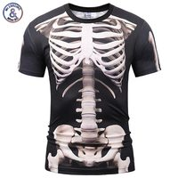 Mr 1991INC Europe America Fashion Men Women T Shirt 3d Print Skeleton Skulls T Shirt Summer