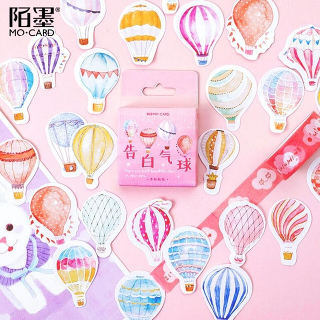 Kawaii Confession Balloon Paper Decoration Stationery Sticker DIY Diary Planner Label Journal Stickers Student Supply