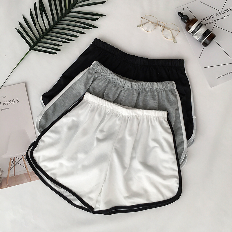 Simple Women Casual Shorts Patchwork Body Fitness Workout Summer Shorts Female Elastic Skinny Slim Beach Egde Short Hot 25