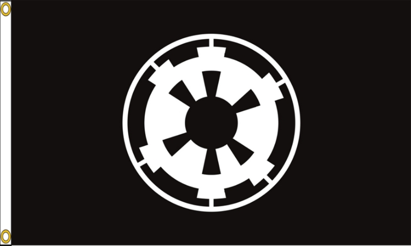 White Star Wars Alliance Rebelle 3x5 FT Drapeau Bannière