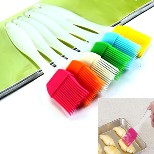 Heat Resisting Silicone BBQ Basting Oil Brush High Temperature Resistant Cleaning Barbecue Baking Cooking Tools T1118 P30