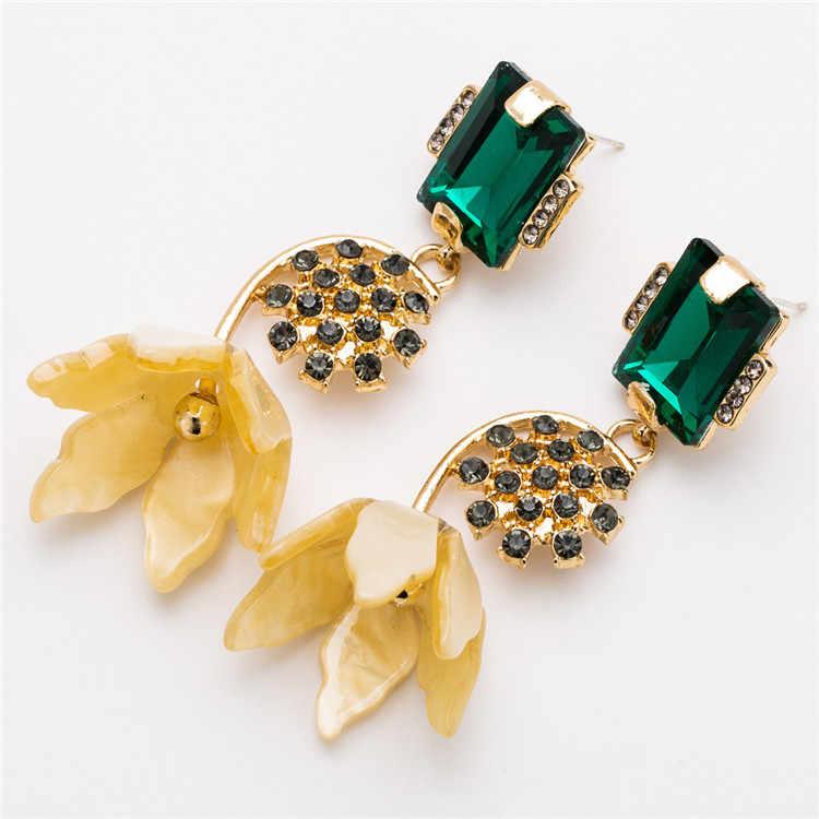 Christmas Resin Flower Drop Earring Long tortoiseshell Earrings For Woman Earing 2018 Womens Earrings In Jewelry best lady za
