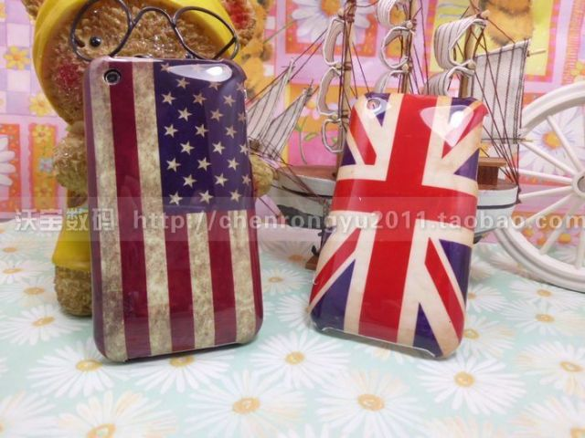 Hot Sales For apple   3 vintage national flag phone case  for iphone   3g 3gs vintage national flag cell phone case