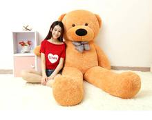 stuffed toy huge 180cm bowtie teddy bear plush toy tan hug bear doll hugging pillow, Valentine's Day,Xmas gift c632