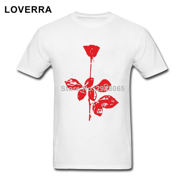 7eb75ccda2 Depeche Mode Violator Rose Logo Men T-Shirts Crew Neck Summer TShirt For  Adult Cotton Oversized Short Sleeve Tees Shirts Man