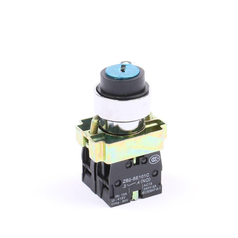 XB2-BG65 2 Позиции ключом селектор выбора кнопочный переключатель N/O N/C кнопочный переключатель,