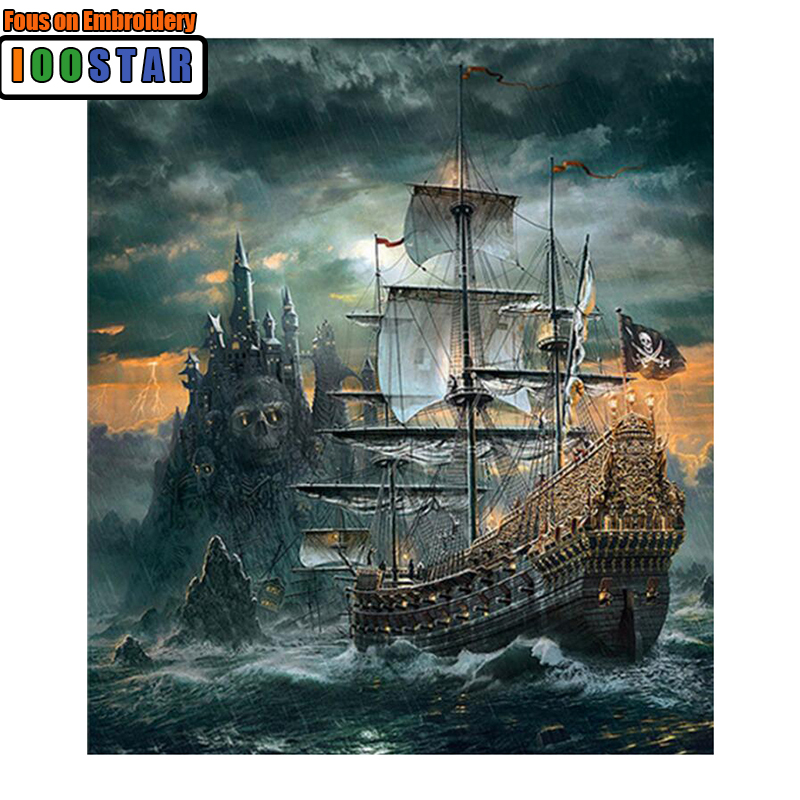 Home Decor Full Drill 5D DIY Diamond Painting ship Skull. Pirates of the Caribbean Embroidery Cross Stitch Mosaic Gift