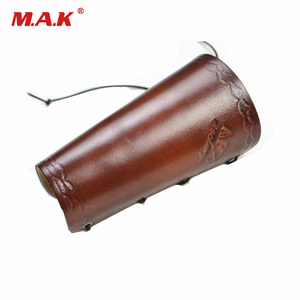 Traditional Cow Leather Arm Restraint Protector Guard Pull Bow Protect Arm Accessory for Shooting Hunting Archery