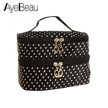 Wash Toiletry Kit Travel Necessaries Necessaire For Women Make Up Makeup Cosmetic Bag Organizer Beauty Case Pouch Vanity Brush aluminum make up bag case portable travel jewelry cosmetic bag organizer box beauty vanity brush storage bags makeup kit tools