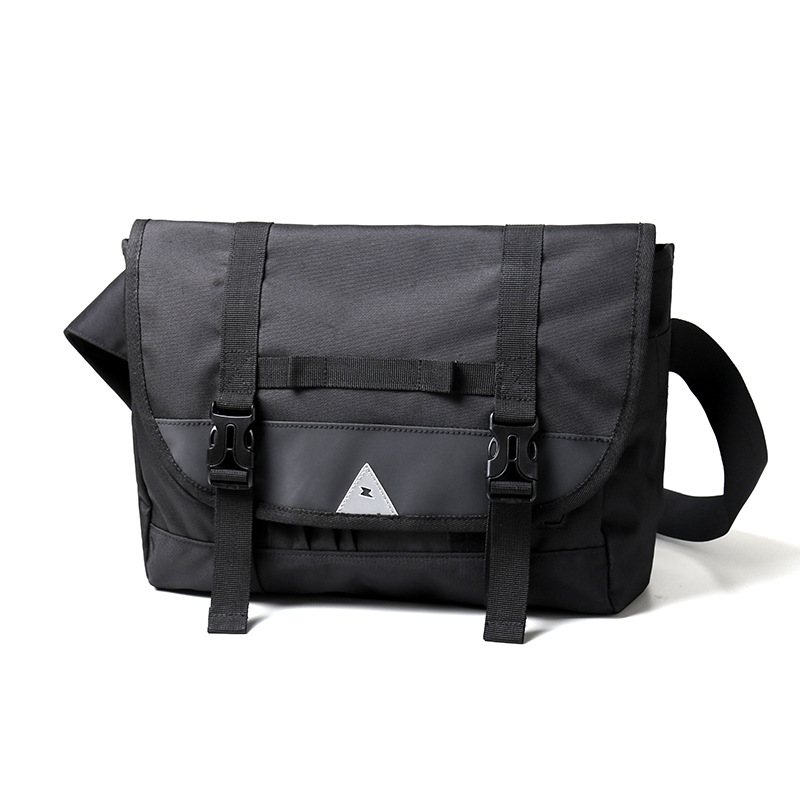 Us 35 13 5 Off Men Bicycle Messenger Bag With Reflective Tape Boys Bags Youth Black For Night Riding Ipad Storage Bolso Bicicleta In