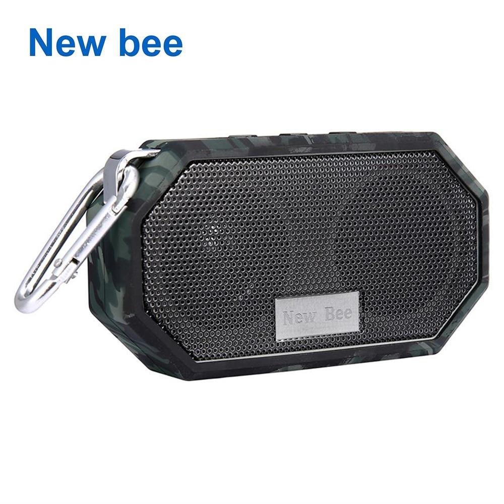 New Bee Bewegliche Mini Drahtlose Bluetooth Lautsprecher Wasserdichte subwoof Dusche Outdoor Lautsprecher freisprecheinrichtung mit Mikrofon für Telefon PC