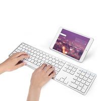 BK418 Ultra Slim Wireless Bluetooth Keyboard Notebook Tablet Keyboard 104keys for Android/IOS/Windows Support 4 Bluetooth Device