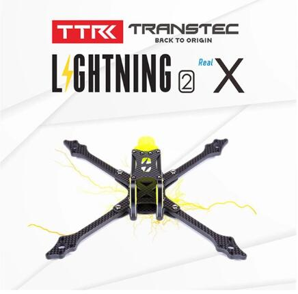 TRANSTEC Lightning 2 True X Lite H Brid 215mm FPV Racing drone Frame 5mm Arm 7075