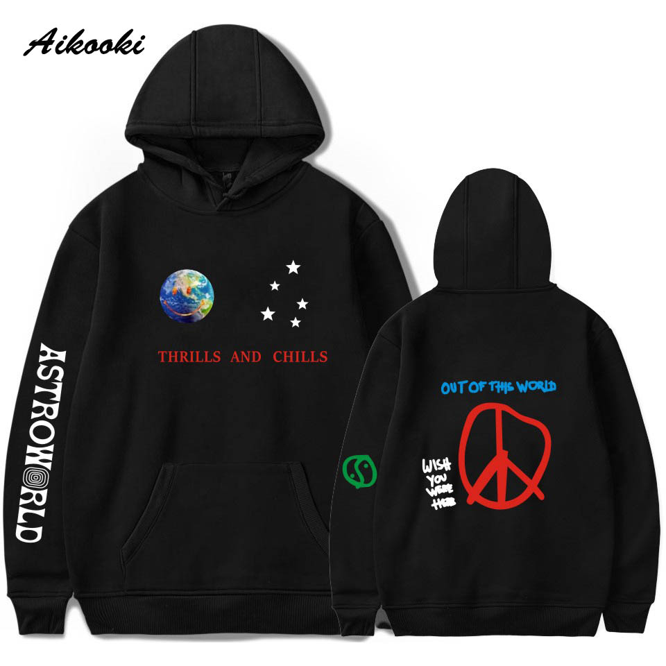 Aikooki Hoodies Sweatshirts Pullover Scotts THRILLS Streetwear Travis Astroworld Hip-Hop-Clothes