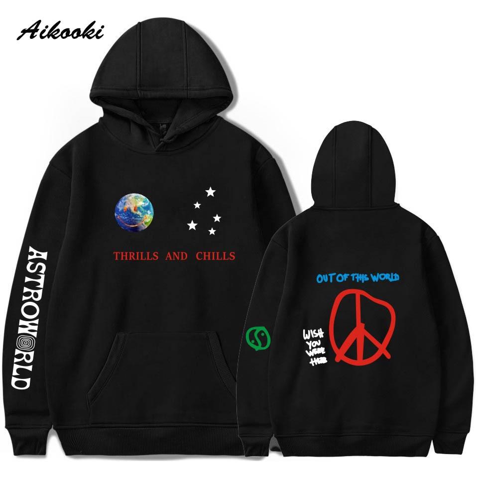Aikooki Astroworld THRILLS AND CHILLS Hoodies Sweatshirts Men/Women Streetwear Pullover Travis Scotts Boy/Girls Hip Hop Clothes