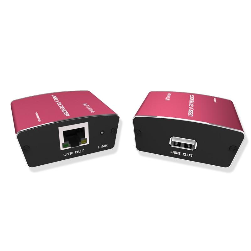 Haute qualité Full USB 2.0 Extender 100 m 300ft USB à CAT RJ45 LAN UTP câble Extension USB2.0 répéteur avec puissance 450FT