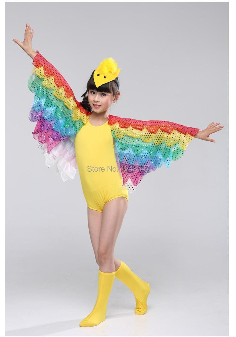 2015 new girls modern performance wear child costume female dance clothing bird animal clothes. Black Bedroom Furniture Sets. Home Design Ideas