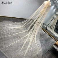 modabelle Luxurious Sequins Champagne Wedding Long Veil Cathedrals Bridal Veils Wedding Accessories Voile Mariage Long Peigne