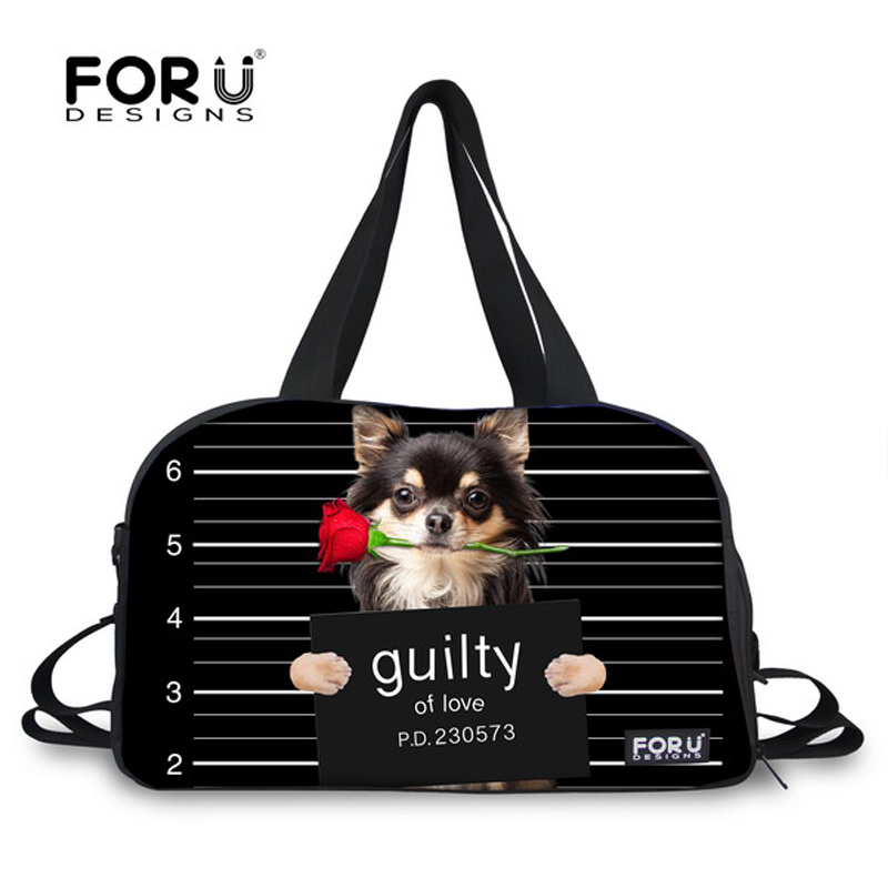 FORUDESIGNS Adorable Pug Dog Design Student Carry on Duffle Bag Women Large Travel Bag Female Luggage Bag Out High-capacity Bag