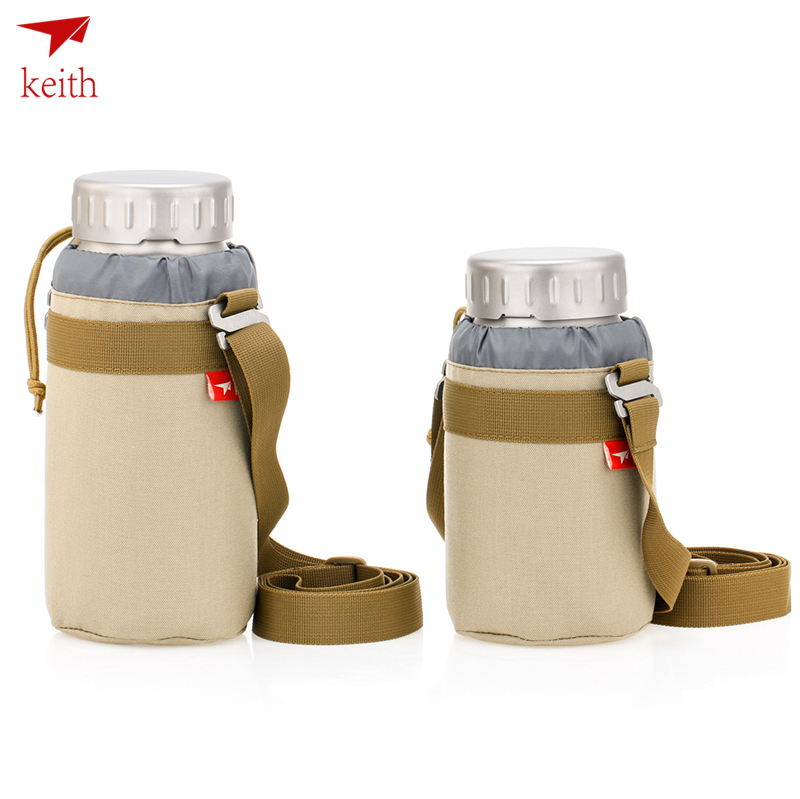 2018 Keith Pure Titanium Drinkware Ultralight Portable Titanium Bottle 900ml and 1200ml Selection with bag Ti3035/Ti3036 keith ti5338 ultralight titanium bowl with large capacity 900ml