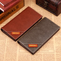 Black England Style Slim Men Long Wallet Men's pu Leather Bifold Cards Holder thin Purse Wallet Handbag Clutch 2016 business ol