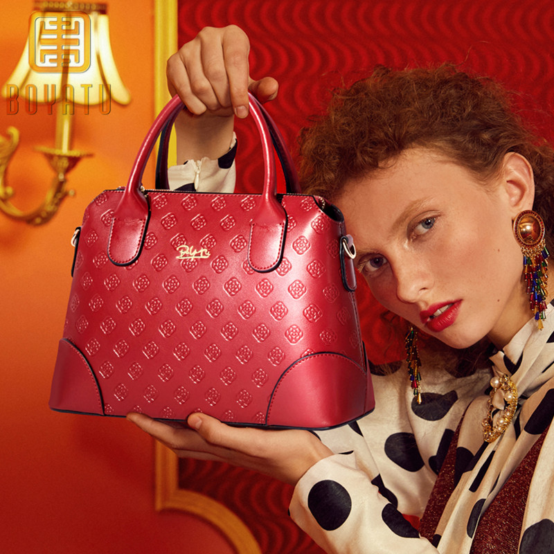 цена на Brand Women's Cow Leather Handbag Luxury Shoulder Bag Women Handbags Female Bag Lady Bag Designer top-handle bags Purse Sac