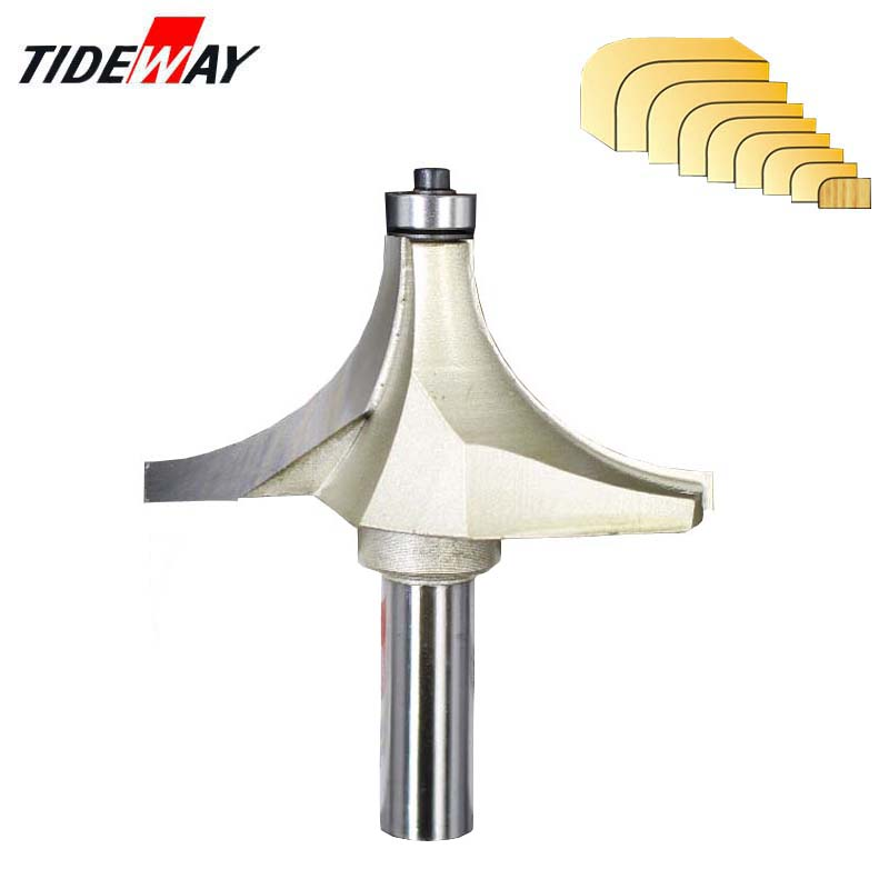 Tideway Round Over Edging Router Bit 1/2 Shank For Wood Woodworking Tool 2 Flute Endmill With Bearing Milling Cutter Corner
