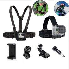 Крепление на голову, нагрудный ремень для GoPro Hero 7, 6, 5, 4, Xiaomi Yi, 4 K, sony, аксессуары для экшн-камеры, ремень для мобильного телефона, держатель